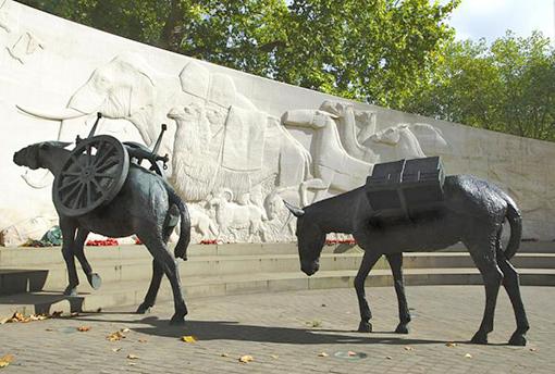 Мемориал погибшим животным.